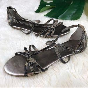 Shoes - ⭕️SOLD⭕️ BANANA REPUBLIC snake pattern sandals